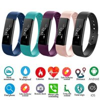Smart ID115 Bluetooth Brassard Stappenteller Fitness Tracker Pour Iphone Android Telefoon Numérique Sport En Plein Air Podomètre