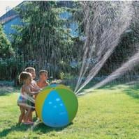 نفخ كرة الماء الشاطئ الأطفال في الهواء الطلق الرش الصيف نفخ رذاذ الماء بالون الاطفال الحديقة المرح سعيد لعب كرة الماء الشاطئ LD44