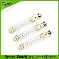 Latão Knuckles vape cartuchos 0.5 / 1.0 ml ouro atomizador vape tanque grosso óleo vape pen VS liberdade v9 v10 0266194