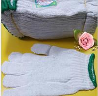 Großhandel weiße Arbeitshandschuhe Winter warme Handschuhe Gestrickte Baumwolle Engineering Schutzmatte 60 Paar