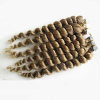 Extensions de cheveux 100g (40pcs) de bande de trame de peau de cheveux de vague de cheveux vierges brésiliens vierges dans des prolongements de cheveux