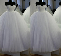 Plus Size Elegant Applique Ball Gown Wedding Dresses Sweethe...