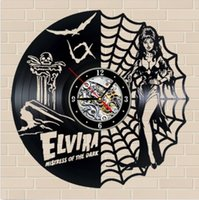 Elvira: Mistress of the Dark Elements, orologio da parete in vinile creativo, orologio da quarzo, amante, souvenir, decorazioni per la casa (dimensioni: 12 pollici, colore: nero)