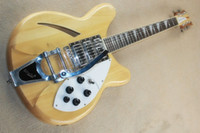 Modèle 370, trois pièces de guitare acoustique semi-creuse avec un grand collier de serrage à bascule