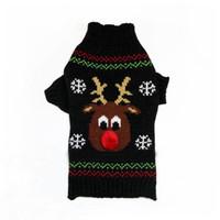 Roupas De Crochê Cão Camisolas Para O Natal Coppernose Pouco Filhote De Cachorro Fawn Trajes Queda Inverno Quente Pet Roupa Cão Closthes