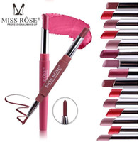 Miss Rose Marke Matte Lipstick 8Color Make-up Lipgloss Lip Line Wasserdicht Langlebiges Pigment Samt Matte Lipstick Beauty Kit