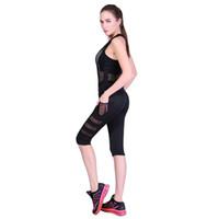 Mulheres Malha Calças de Yoga de Cintura Alta 3/4 Comprimento Lado Bolso Preto Esportes Leggings Mulheres Roupas de Fitness Em Execução Calças Justas de Ginásio