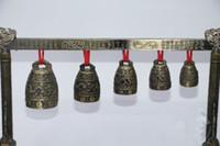 Meditation Gong mit 5 verzierten Glocke mit Dragon Design chinesischen Musikinstrument