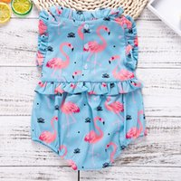 2018 Baby Girls Flamingo Ruffle Rompers INS Fashion Toddler ...