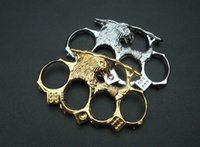2pcs GILDED 13mm STEEL BRASS KNUCKLE DUSTER Gold plating sil...