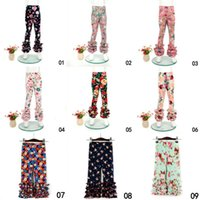 Baby Mädchen Blume Printed Leggings Kinder drucken Blumen Spitze Hosen Kleinkind Strumpfhosen 0-9 T 21 Styles Sommer Kleidung