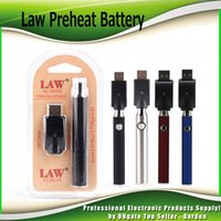 Law Preheat Battery Blister Charger Kit 350mAh 650mAh 1100mA...