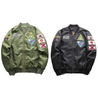 High Quality Mens Bomber Jacket Street Patch Designs MA1 Jac...
