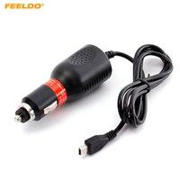 자동차 휴대용 GPS 네비게이터 DVR 충전기를위한 Feeldo DC12V-48V 자동차 미니 USB 인터페이스 전원 충전기 # 5494