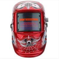 Grosso Welding Helmets Solar Padrão Auto Escurecimento Welding Helmet Red Skull Black White solda Fornecimentos Industriais MRO