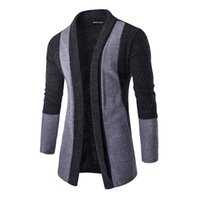 Men's New Hit kein Verschluss Kontrastfarbe Strickjacke Strickjacke Mode Freizeit warme Kleidung M-XXL