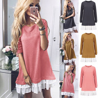 Women spring Casual sweaters Blouse Long Sleeve designer swe...