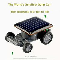Solar car mini kids toy Worlds Smallest Solar Power Energy R...