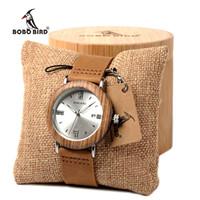 fab206df8e2 Bobo bird imitação de diamante relógios de quartzo relógio de aço inoxidável  com pulseira de couro