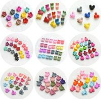 12 Styles 10 Colors Mixed 20pcs lot Children Plastic Hairpin...