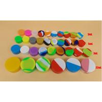 Silikon-Wachsöl-Behälter 3ml 5mL 7ml Silikon-Behälter Glas-Konzentrat-Wachs-Behälter Freies Großhandelsverschiffen