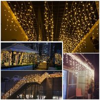 LED Curtain Icicle String Fairy Light Wedding Party Garden D...