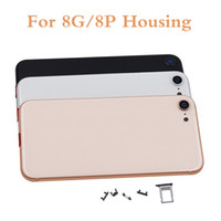 Iphone 8G Için konut 4.7 '' 8 Artı 5.5 '' inç OEM Pil Arka Kapı Kılıfı Tam Konut Meclisi Yedek Parçalar