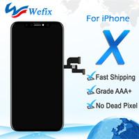 Для черно-белого высокого качества iPhone X 10 ЖК-дисплей с сенсорным экраном планшета полная сборка DHL доставка