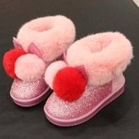 Snow Boots Girl Winter Outdoor Boots Winter Warm Shoes Sequi...