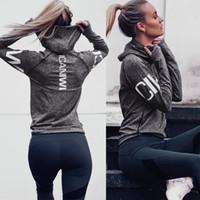 Chemise de yoga pour femme Maillot de sport à manches longues Maillot de yoga à capuche sport Haut Veste de jogging Tops de fitness T-shirts de fitness T-shirts de fitness