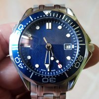 Sofort lieferbar Luxus Mens Professional 300m James Bond 007 Blue Dial Sapphire Automatikuhr Herrenuhren