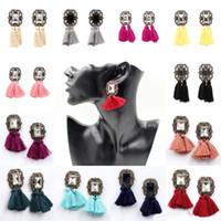 14 estilos geométricos clássico retro brincos de borla brincos mulheres temperamento curto acessórios do parafuso prisioneiro brincos