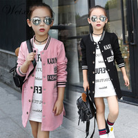 Children's Windbreaker For Girls Kids New Spring Autumn Letter Printed Baseball Sweatershirt Jacket Coat Outerwear Clothes