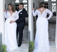 Vintage Sheath Wedding Dresses With Detachable Train Sheer N...