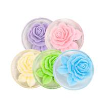 자연 장미 꽃 에센셜 오일 수제 비누 페이스 케어 오일 컨트롤 페이셜 청소 비누 스킨 케어