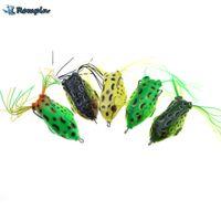 Rompin 1pcs doux Frog Lure silicone appât 12g 5.5cm corps artificiel souple Leurre Pour Snakehead appât Sport grenouille verte Leurres