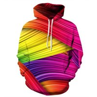 Cloudstyle 2018 Fashion 3D Hoodies Men Smooth Colorful Strea...