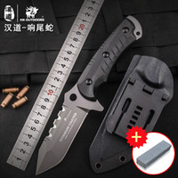 HX OUTDOORS Rattlesnake outdoor tactical knife, high hardnes...
