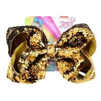 Choice Kızlar Tokalar Çocuk Çocuk Saç Aksesuarı Bebek Şapkalar Noel Hediye 8inch JOJO Pullarda Saç Klip Bows Saç Bow 9 Renkleri