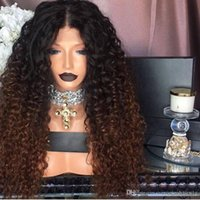 Charming 1b 30# Ombre Blonde Kinky Curly Wigs Glueless Synth...