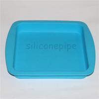 """Antiadhésif Silicone Deep Dish Plateau Conteneur 8 """"Non Stick Huile de cire Multi Use Bocaux de stockage Carré poêle 8 Pcs lot"""