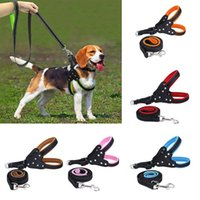 Nylon Dog Harnesses Rhinestone Step Soft Mesh Padded Reflect...