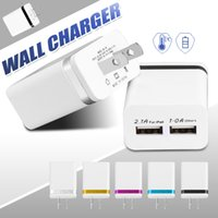 Dual Travel Wall Charger 5V 3. 1A Adapter EU US Plus Power Ch...