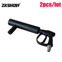 مراقبة البسيطة Pistola دي CO2 جيت بندقية لDJ حزب ديسكو الزفاف لكرة القدم اليد الصلب المحمولة LED المرحلة إضاءة تأثير شحن مجاني