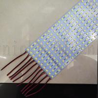 Süper Parlak 1M 5050 LED Sert Şerit Işık Bar 72LEDs 12V 15W 22 Lümen CRI 80 Tayvan LED Chip Alüminyum PCB 990mm * Takı Sayaç için 12mm