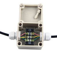 IP65 Водонепроницаемый электрический Корпус проекта Распределительная коробка с Сальник Разъемы 86 * 84 * 60 мм