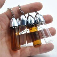 57см стеклянный таблетки для хранения бутылок для нефтяной сухой травы ракетная пятно Snorter Dispenser Bullet Sniffer с металлической ложкой цвет случайный