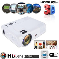 3D 1080P L8 WiFi Version Mini Projector Full HD Theater Proj...