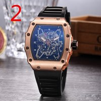 2018 New Luxury brand Fashion Skeleton Watches men or women ...