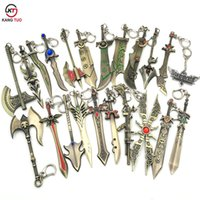 A Lot/15pcs LOL Keychain League Of Legend  Key Chain LOL Demarine  Model Key Ring For Fans Souvenir Gifts 12 CM